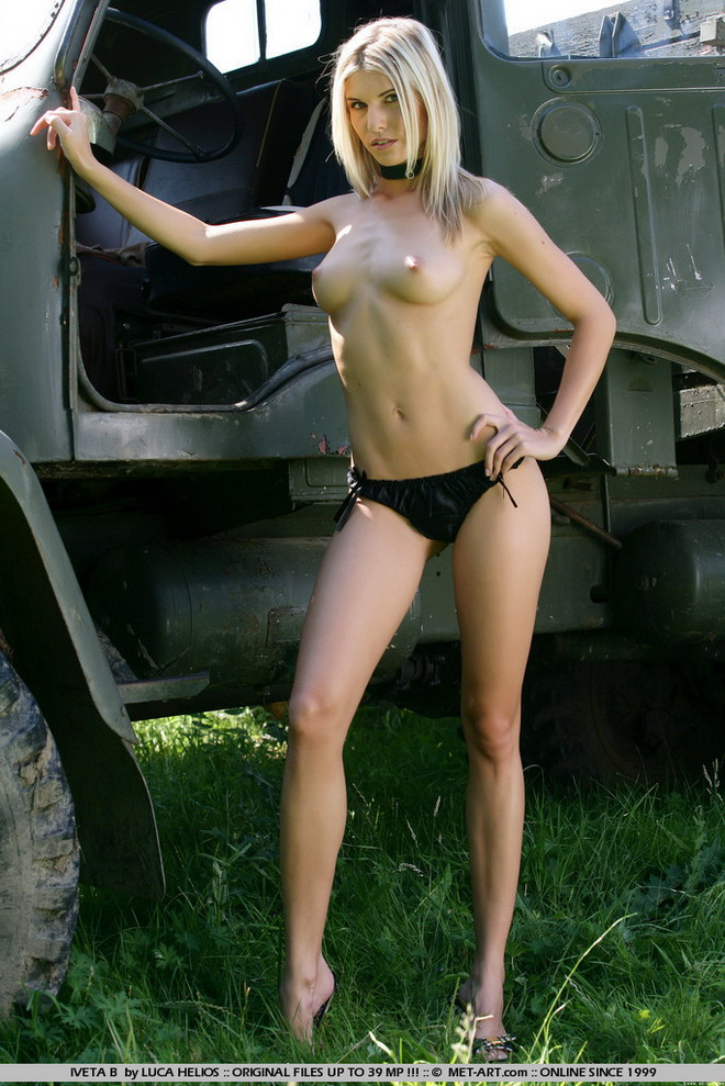 sexy girls naked on trucks