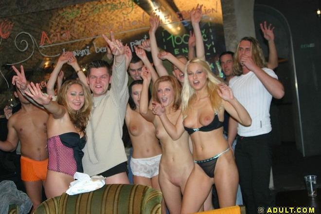 Вечеринок фото голых
